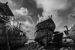 Boat dockyard (Aravindan Ganesan) Tags: clouds canon boats boatyard sunstar cwc royapuram kasimedu canon600d chennaiweekendclickers tokino1116 mychennai cwc526 kasinedufishingharbour