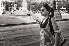 hailing a cab (Gerard Koopen) Tags: life street bw woman blancoynegro girl monochrome sunglasses 35mm fuji candid cab havana cuba streetphotography fujifilm habana straat 2016 hailingacab straatfotografie blackandwihite xpro1 gerardkoopen