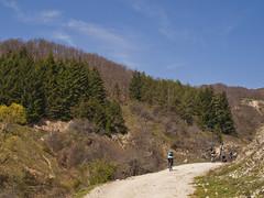 Riding Up Buseva Mountain (rante_to4ak) Tags: road trees sky mountains building cycling team ride bikes bicycles dirt macedonia biking peaks asphalt pusta reka cer makedonija krusevo drugovo bicyclemk