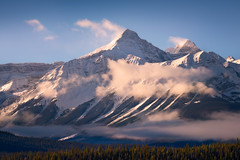 Cloud Busting (David Young - LandscapeExposure.com) Tags: winter mountain fog clouds sunrise landscape alberta canadianrockies
