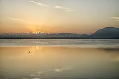 Aurora (Sathish_Photography) Tags: sunlight mountains reflection sunrise dawn boat fisherman earlymorning hills aurora sunrays tamilnadu lakewater nikon5100 chengalpet morningbliss nikon18105mmlens kolavailake sathishphotography sathishkumarphotography