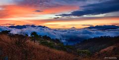 mt.fuji from Takabocci  of clouds (koshichiba) Tags: nature japan sunrise landscape fuji fujisan nagano  mtfuji       takabocci lalesuwa