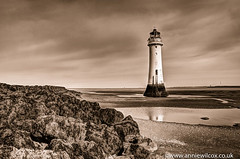 Old Postcard Look (AnnieWilcoxPhotography) Tags: sea england bw lighthouse building beach monochrome sepia liverpool blackwhite seaside nikon scenery europe unitedkingdom hdr apr hdri wallasey wirral newbrighton sepiatoned oldpostcard 2016 rivermersey photomatix newbrightonlighthouse liverpoolbay perchrock perchrocklighthouse photographytechnique d7000 anniewilcox wwwanniewilcoxcouk anniew69 architecturech