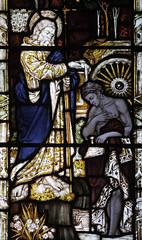 St Philip Baptizing (Lawrence OP) Tags: college saint stainedglass baptism oxford biblical ethiopian allsouls stphilip apostle