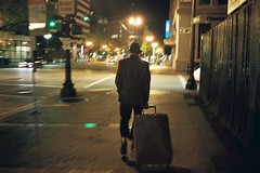 Downtown Oakland (Nicholas_Luvaul) Tags: california street leica old light motion blur color classic film analog 35mm photography oakland bay exposure downtown natural kodak low voigtlander 400 area portra m6 f25 cv skopar