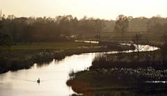 De Wieden (NLHank) Tags: sunset holland nature netherlands dutch canon landscape eos evening swan nederland natuur swans 7d avond 70200 wanneperveen wetland giethoorn mkii landscap zwaan wieden zwanen eos7d nlhank