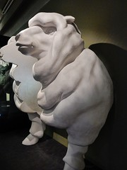 Kiwi Rams (mikecogh) Tags: museum sheep heads wellington ironic tepapa symbolic