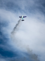 Airshow (newzild) Tags: new blue sky radio four model aircraft smoke aeroplane panasonic piston zealand micro remote napier controlled thirds m43 trailing engined f456 35100 dmcgm5