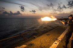 131109-N-TQ272-1095 (markelrayes) Tags: ocean military navy harpersferry marines sailor deployment gunfire lsd49 elrayes
