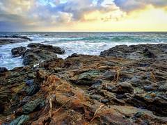 Color Splash #pacificocean #tidepools #colors #clouds #rockyshores #seascape #pacificbeach #cali #coastal #laguna #colorfulrocks #skyporn #waves (tj_arriaga) Tags: cali square waves squareformat shores tidepools theoc tides colorfulrocks iphoneography instagramapp