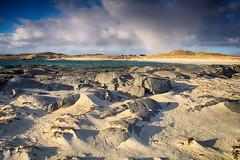 Wild beach (OutdoorMonkey) Tags: sea wild sky cloud beach rock outside evening coast seaside sand shadows outdoor stormy coastal shore seashore sanna sannabay