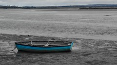 Muddy Boat (Ross Major) Tags: blue boat mud australia olympus victoria row queenscliff olympusepm2