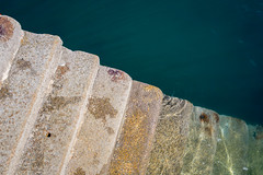 Mermaid steps (chrisotruro) Tags: sea stone spring cornwall steps granite april bluegreen porthleven
