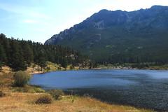 View of Twin Sistrs Peaks across Lily Lake - Rocky mountain National Park. Colorado (danjdavis) Tags: lake mountains nationalpark colorado rockymountains mountainlake rockymountainnationalpark lilylake twinsisterspeaks