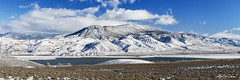 Piute Reservoir On A Bright Winter Day (Alfred J. Lockwood Photography) Tags: statepark winter panorama mountain lake snow nature landscape utah afternoon reservoir piutestatepark piutereservoir alfredjlockwood
