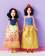 Hasbro v Mattel Snow White (toomanypictures1) Tags: disney belle cinderella snowwhite mattel hasbro mulan