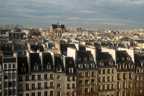 La vue du Centre Pompidou (Paris, France)