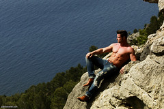 Henny (Pabs.be) Tags: travel summer mountain man sexy male men nature beautiful beauty muscles outdoors healthy model pretty muscle gorgeous sunny hunk jeans health strong denim hunky fit hunks studs malemodel jocks malemodels fitnessmodel fitnessmodels