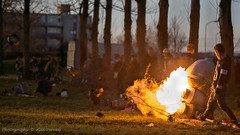 i'm on fire ... (Alex Verweij) Tags: fire explosion gas lelystad vuur knal melkbus deksel gevaar milkchurns carbid imonfire melkbussen alexverweij 31dec2015