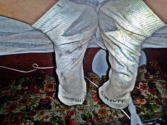 white/gray Hanes ankle sock 3 (nettie83_2000) Tags: socks sock dirty smelly wrinkled hanes dirtysock