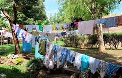 Laundry lines at Crisis Nursery orphanage (Lars Plougmann) Tags: orphanage clothes laundry malawi clothesline mw lilongwe dryingclothes centralregion dscf5326