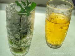 Mojito or beer (Belinda Fewings (2.5 million views. Thank You)) Tags: barcelona street city colour ice apple beer glass beautiful beauty out table outside outdoors seaside spain arty artistic bokeh creative mint espana drinks mojito condensation catalunya colourful lovely the espanya rooftopterrace beautify rooftopbar appleiphone ohlahotel hotelohla pbwa creativeartphotograhy belindafewings orlahotel