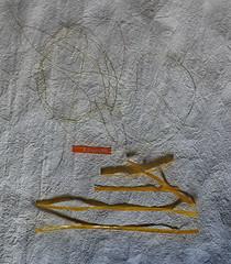 """Obituary, in Memoriam Pierre Boulez (1925 - 5. Jänner 2016) """"For me a baton seems too aggressive, it reminds me of a sword"""" """"Für mich wirkt ein Taktstock zu aggressiv, er erinnert mich an ein Schwert"""" (hedbavny) Tags: vienna wien schnee winter light shadow white mist snow kitchen thread trash death gold austria licht österreich musiker hand quote january tapis küche weaver tot tod schatten tagebuch bau obituary weber loom tapestry januar teppich nachruf streifen abfall memoriam schwert hausbau zitat webstuhl abzug workingroom tapiz analogie werkstatt boulez tapisserie faden handschrift weis komponist geste arbeitsraum dirigent jänner antwort klebestreifen pierreboulez weavingloom réponse taktstock bildwirkerei bildteppich workingchamber teppichweber hedbavny ingridhedbavny ganzewoche fernsehbeilage grafologie"""