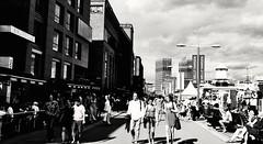 Aker Brygge, Oslo, Norway (AyaxVII) Tags: life street city people blackandwhite blancoynegro monochrome oslo norway clouds hall calle cityscape walk citylife ciudad personas vida nubes noruega hansen aker radhuset helly brygge d3000