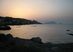 Monte dell'Aspra e Torre Normanna da San Nicola (k0101) Tags: sea twilight sicily palermo aspra torrenormanna sannicolalarena
