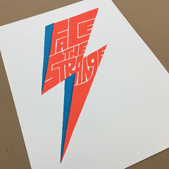 Face The Strange serigraph (Chris Piascik) Tags: david art print poster bowie lyrics silkscreen type tribute lettering changes ziggy stardust uncategorized serigraph