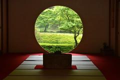 Beyond (NaturalLight) Tags: moon window japan circle temple buddhist kamakura zen round mainhall meigetsuin rinzai