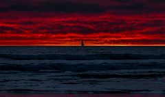 Sailor's Delight 2 (Wilkof Photography) Tags: ocean california ca winter light sunset shadow sea vacation sky seascape reflection beach nature wet water skyline night sailboat canon dark lens landscape evening la boat losangeles seaside sand colorful waves skies waterfront darkness nightshot sundown natural cloudy yacht dusk horizon perspective january scenic surreal windy overcast panoramic reflect nighttime boating venicebeach serene sailor hazy polarizer picturesque cloudcover beachfront cpl humid 135mm oceanfront oceanscape t4i 18135mm canont4i wilkof