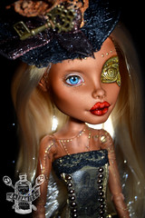Annika (saijanide) Tags: eye monster robot high mod doll ooak steam blonde customized custom gears mh modded robo steampunk cybernetic repaint faceup robecca saijanide