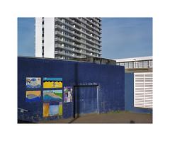 eclectic urban structures (ha*voc) Tags: urban 120 film mediumformat rangefinder 6x7 expired eclectic zandvoort 80mm urbanfragments mamiya7ii urbanentropy fujinhgii800