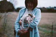 Curiosity ② ❮Explored❯ (Rob₊Lee) Tags: cute film girl japan lady ferret kyoto pretty kodak simulation albino cinematic portra rare 160 surburb otaginenbutsuji 愛宕念仏寺