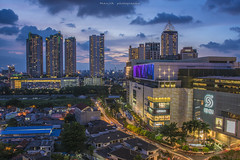 Jakarta sunset (Manjik.photography) Tags: road street city sunset urban building mall shopping indonesia downtown cityscape traffic capital grand jakarta d810 manjik