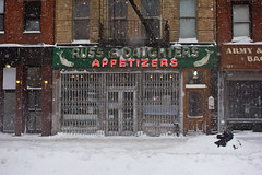 Cold Appetizers (maisa_nyc) Tags: nyc winter snow newyork storm les manhattan lowereastside houstonstreet loisaida russdaughters