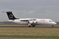 HB-IYV (GerardvdSchaaf) Tags: swissinternationalairlines 146 aircraft airplane aviation avro bae civil eham hbiyv operator rj1 schiphol swiss vliegtuigen zwitserland airliner