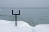 Make a Stand (Light Collector) Tags: winter snow ontario canada collingwood georgianbay floatingice polestand