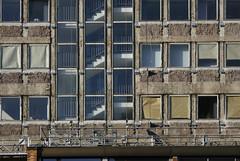 AOK, Frankfurt am Main 2015 (Spiegelneuronen) Tags: architektur frankfurtammain fassade sanierung aok behörde krankenkasse kurtschuhmacherstrase