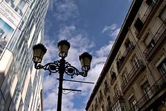 Perspective (Daniel Nebreda Lucea) Tags: street city sky urban color colour building lines clouds composition canon calle streetlight edificio perspective ciudad zaragoza cielo nubes aragon perspectiva lineas composicion