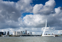 Clouds above the Erasmusbrug (koos.dewit) Tags: bridge holland architecture clouds canon rotterdam cityscape thenetherlands erasmusbrug erasmusbridge 2015 1740mml canon6d koosdewit