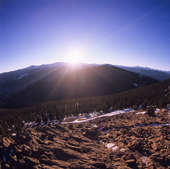 Mt Evans (Piton Photography) Tags: evans fisheye hasselblad velvia firetower mountevans mtevans squawpeak 30mm squawmountain stupidwide