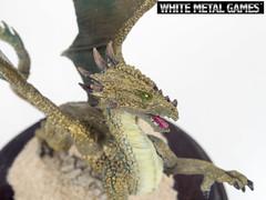 Bronze Dragon (whitemetalgames.com) Tags: bronze painting gold miniatures miniature nc dragon display reaper dragons raleigh service commission pewter plinth diorama