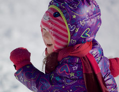 Go Girl! (leelanau2010) Tags: blue winter red usa white snow kids mi fun parents lucy crazy sister christopher bumpy sledding northwoods