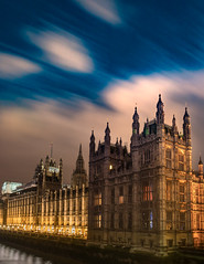 Was hoping for stars but got fast moving clouds. (James I Barber) Tags: city sky cloud london water westminster architecture night clouds long exposure sony housesofparliament bigben neogothic palaceofwestminster a7rii