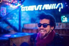 Travie (Cody Schroeder) Tags: winter portrait people face sunglasses bar night lowlight spokane bokeh character sony voigtlander dive 40mm a7 nokton ilce7
