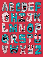 Monster Alphabet (Chris Piascik) Tags: monster kids illustration drawings daily alphabet lettering