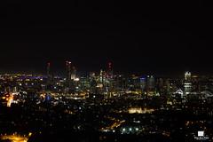 Brisbane City (Patrick Gatling) Tags: city sky tower cars night skyscraper buildings dark lights australia brisbane southbank cbd seq