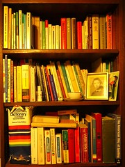 Is it your cup of tea? Books, books books. Who uses dictionaries and who turns to the Web for translations? (Traveling with Simone) Tags: writing french italian room books bookshelf collection card german frame whiteout languages yiddish etagre dictionnaires ditionaries